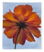 Orange On Blue Fleece Blanket