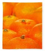 Orange Oranges Fleece Blanket