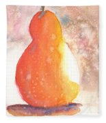 Orange Pear2 Fleece Blanket