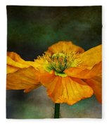 Orange Poppy Fleece Blanket