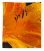 Orange Rain Fleece Blanket