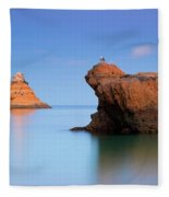 Orange Rock Formations Fleece Blanket