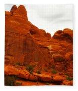 Orange Rock Fleece Blanket