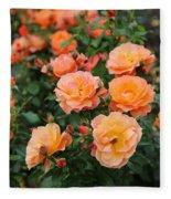 Orange Roses Fleece Blanket