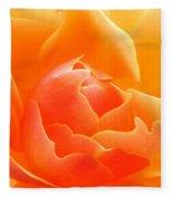 Orange Sherbet Fleece Blanket
