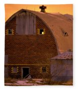 Orange Sky Barn Fleece Blanket