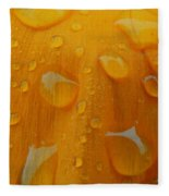 Orange Splash Fleece Blanket