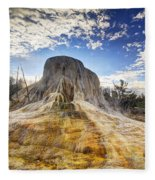 Orange Spring Mound Fleece Blanket