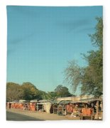 Orange Stalls Fleece Blanket