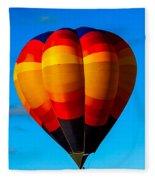 Orange Stipped Hot Air Balloon Fleece Blanket