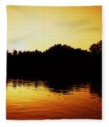 Orange Sunset Fleece Blanket