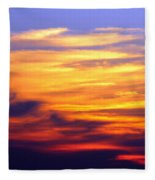 Orange Sunset Sky Fleece Blanket