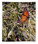 Orange Swallowtail Fleece Blanket