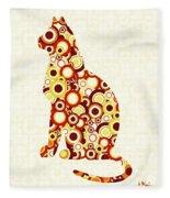 Orange Tabby - Animal Art Fleece Blanket