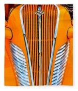 Orange Terraplane Fleece Blanket