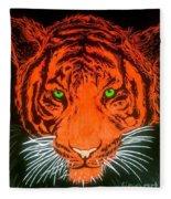 Orange Tiger Fleece Blanket