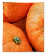Orange Trio Fleece Blanket