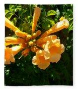 Orange Trumpets Fleece Blanket