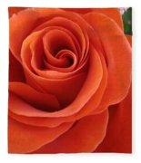 Orange Twist Rose 2 Fleece Blanket