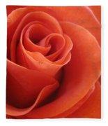 Orange Twist Rose 3 Fleece Blanket