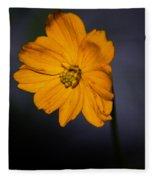 Orange Wild Flower Fleece Blanket
