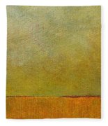 Orange With Red And Gold Fleece Blanket