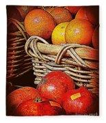 Oranges And Persimmons Fleece Blanket