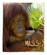 Orangutan Female Fleece Blanket