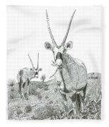 White Sands Orax  Fleece Blanket
