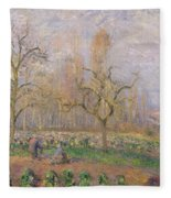 Orchard At Pontoise Fleece Blanket