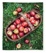 Orchard Fresh Picked Apples Fleece Blanket