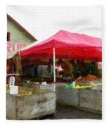 Orchard Fruit Stand Fleece Blanket