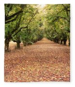 Orchard In The Morning Fleece Blanket