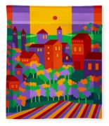 Orchard Villa Fleece Blanket
