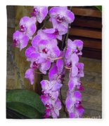 Orchid Beauties Fleece Blanket