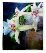 Orchid Cascade Fleece Blanket