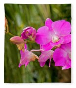 Orchid Dendrobium Fleece Blanket