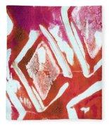 Orchid Diamonds- Abstract Painting Fleece Blanket