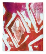 Orchid Diamonds- Abstract Painting Fleece Blanket