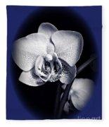 Orchid Elegance 2 Fleece Blanket