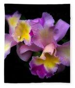 Orchid Embrace Fleece Blanket