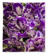 Orchid Grouping Fleece Blanket