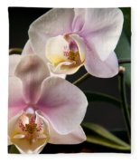 Orchid In Bloom Fleece Blanket