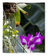 Orchid In Bloom Fleece Blanket