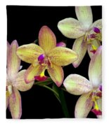 Orchid In Blossom Fleece Blanket