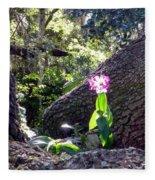 Orchid In Tree 2 Fleece Blanket