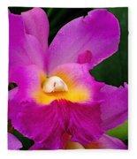 Orchid Variations 1 Fleece Blanket