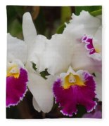 Orchids 198 Fleece Blanket