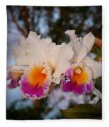 Orchid Elsie Sloan Fleece Blanket