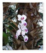 Orchids In The Opryland Hotel In Nashville Tennessee Fleece Blanket